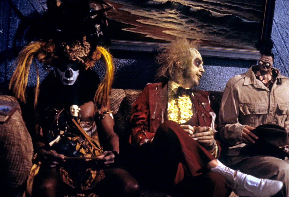 Michael Keaton as Beetlejuice, in the undead waiting room (Photo: Warner Bros./Courtesy of Everett Collection)