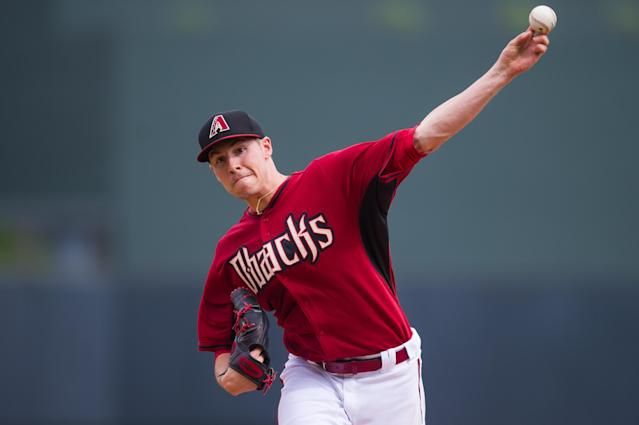 SCOTTSDALE, AZ - FEBRUARY 28: Patrick Corbin #46 of the Arizona Diamondbacks pitches during a spring training game against the Colorado Rockies at Salt River Fields at Talking Stick on February 28, 2014 in Scottsdale, Arizona. (Photo by Rob Tringali/Getty Images)