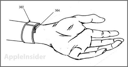 Line drawing from Apple's patent filing