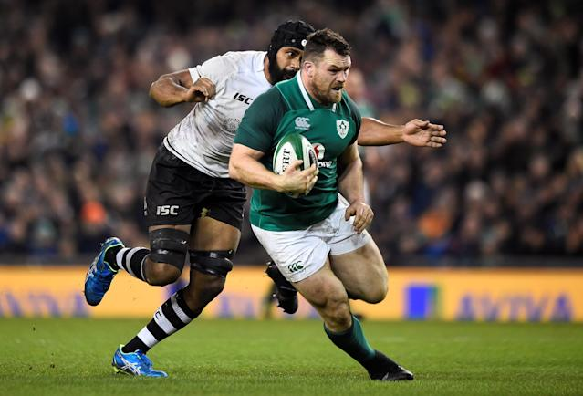 Rugby Union - Autumn Internationals - Ireland v Fiji - Aviva Stadium, Dublin, Republic of Ireland - November 18, 2017 Ireland's Robbie Henshaw in action REUTERS/Clodagh Kilcoyne