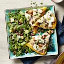 "<p>This healthy homemade pizza for two is small enough that it can be made in the toaster oven, if your toaster oven has a ""broil"" function. <a href=""http://www.eatingwell.com/recipe/276965/polenta-pizza-with-mushrooms-arugula-salad/"" rel=""nofollow noopener"" target=""_blank"" data-ylk=""slk:View recipe"" class=""link rapid-noclick-resp""> View recipe </a></p>"