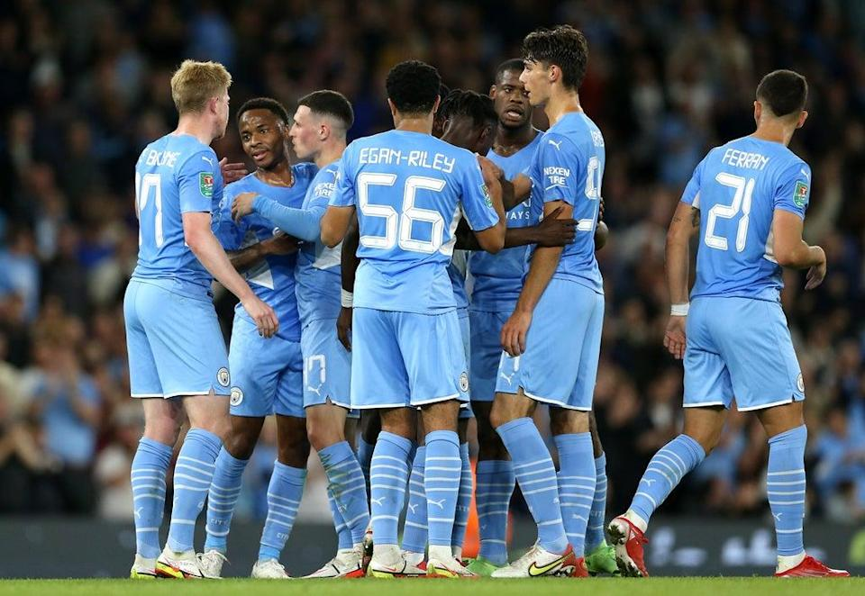 A young Manchester City side began their Carabao Cup defence with victory over Wycombe (Barrington Coombs/PA) (PA Wire)