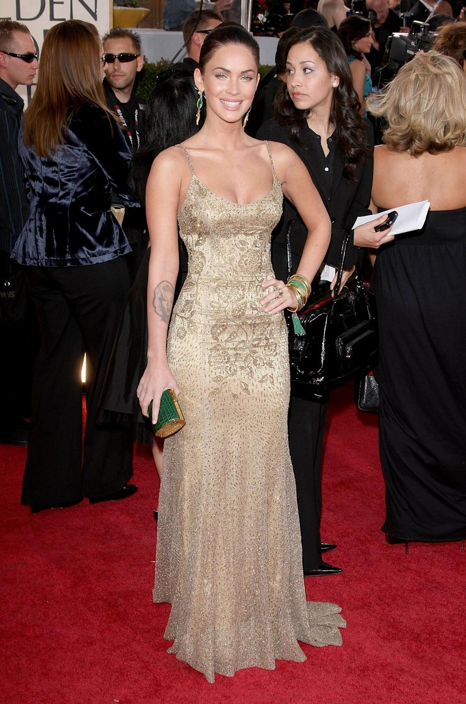 Megan Fox said she wore a Ralph Lauren gown to the 2009 Golden Globes, where she says too much alcohol led her to make regrettable comments on the red carpet.