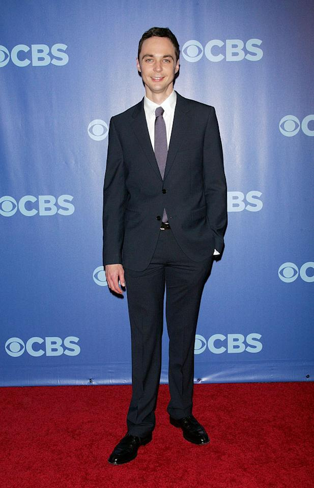 "<a href=""/jim-parsons/contributor/1134670"">Jim Parsons</a> (""<a href=""/big-bang-theory/show/39758"">Big Bang Theory</a>"") attends the 2010 CBS Upfront at The Tent at Lincoln Center on May 19, 2010 in New York City."