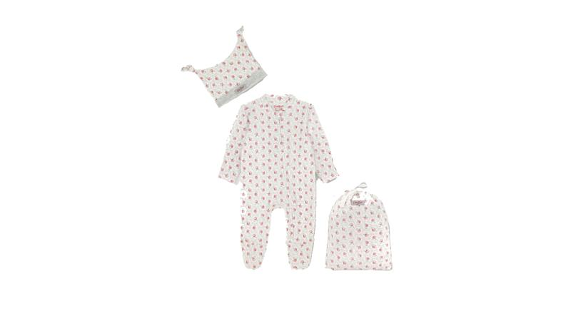 Baby Sleepsuit and Hat Set