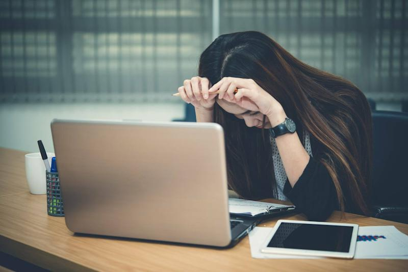 Woman unable to concentrate