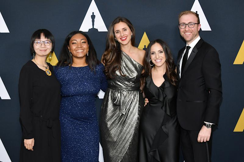 Yifan Sun, Princess Garrett, Eva Rendle, Abby Lieberman and Joshua Lucas attend the 46th Student Academy Awards at the Academy of Motion Picture Arts and Sciences on October 17, 2019.