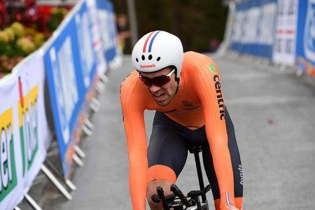 Cycling - UCI Road World Championships - Men Elite Individual Time Trial - Bergen, Norway - September 20, 2017 - Tom Dumoulin of the Netherlands competes. NTB Scanpix/Cornelius Poppe via REUTERS