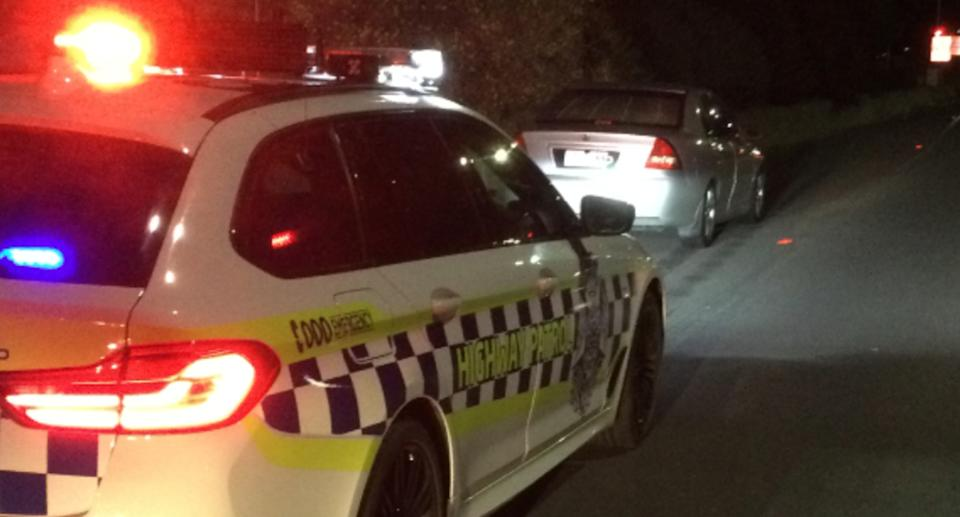 The P-plater was caught allegedly drink driving and speeding with two infants in the car. Source: Victoria Police