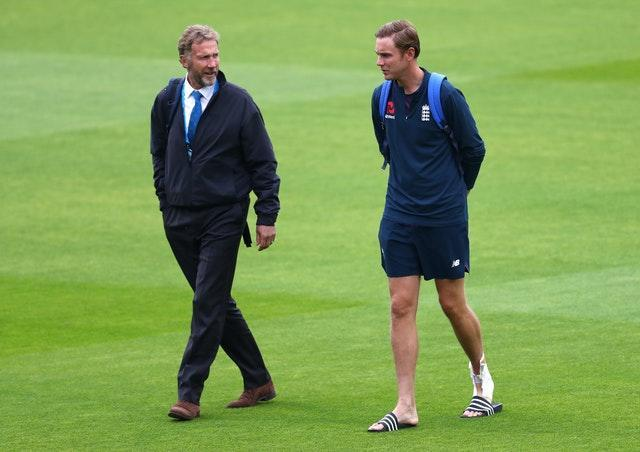Chris (left) and Stuart Broad (right) have both played Test cricket for England