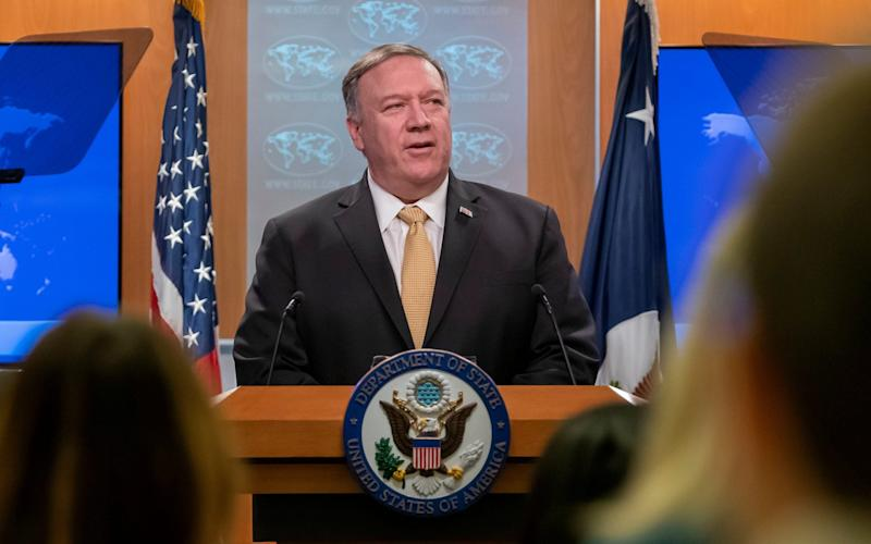US Secretary of State Mike Pompeo announced the change in US policy on Monday - REX