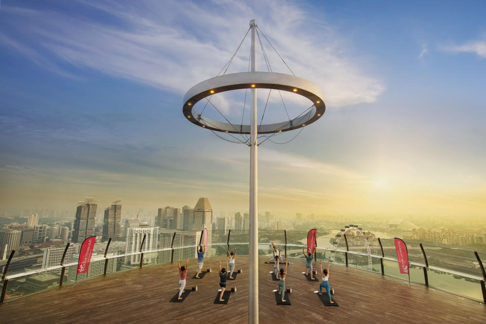 SkyPark Yoga by Virgin Active at the iconic Sands SkyPark
