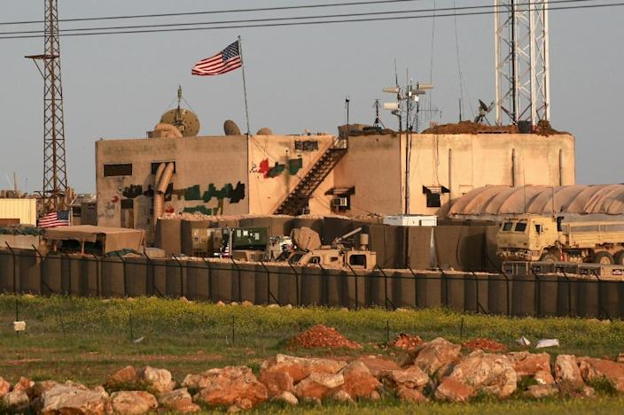 A general view of a US military base in the al-Asaliyah village, between the Syrian city of Aleppo and the northern town of Manbij is seen in April 2018 (AFP Photo/Delil SOULEIMAN)