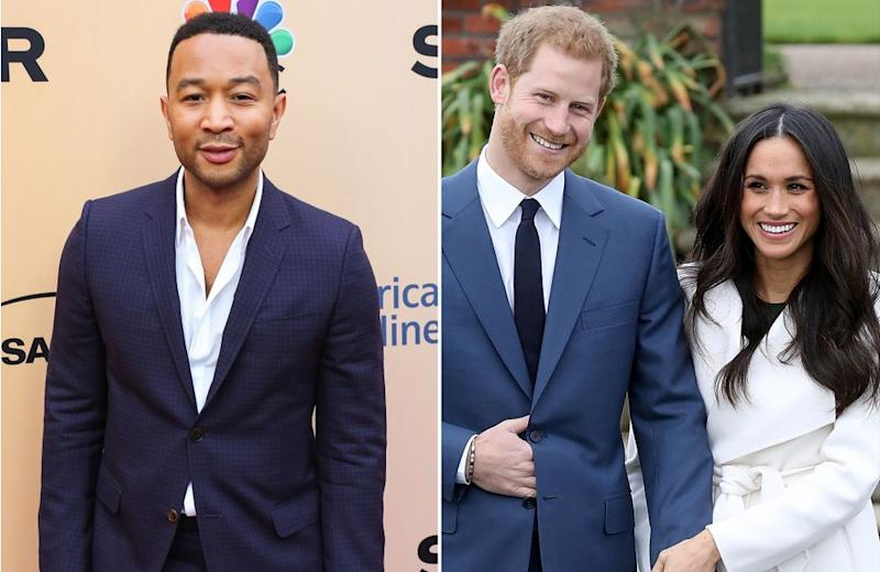 John Legend; Prince Harry and Meghan Markle.