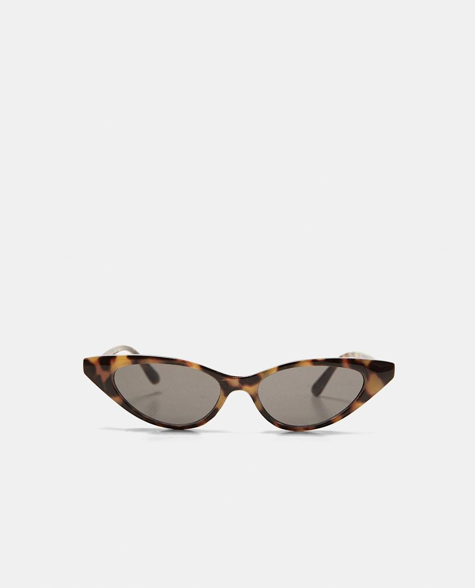 "<p><span>Slim is in, so why not make these narrow cat-eye pair your shades of choice this summer? Plus, look at the price-tag. Thanks, Zara. </span><br><em><a href=""https://www.zara.com/uk/en/cat%E2%80%99s-eye-sunglasses-p02727201.html?v1=6454819&v2=805003"" rel=""nofollow noopener"" target=""_blank"" data-ylk=""slk:Buy here."" class=""link rapid-noclick-resp""><span>Buy here.</span></a></em> </p>"