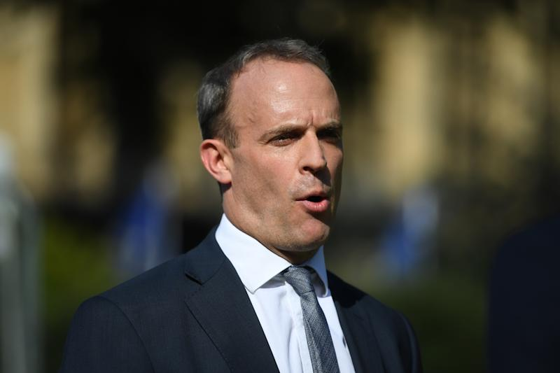 File photo dated 23/7/2019 of Foreign Secretary Dominic Raab, who has summoned the Chinese ambassador after a former employee of the UK's Hong Kong consulate alleged he was tortured in China.