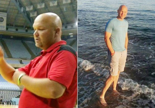 PHOTO: Andy Bell, 45, is photographed before and after his 100-pound weight loss. (Andy Bell)