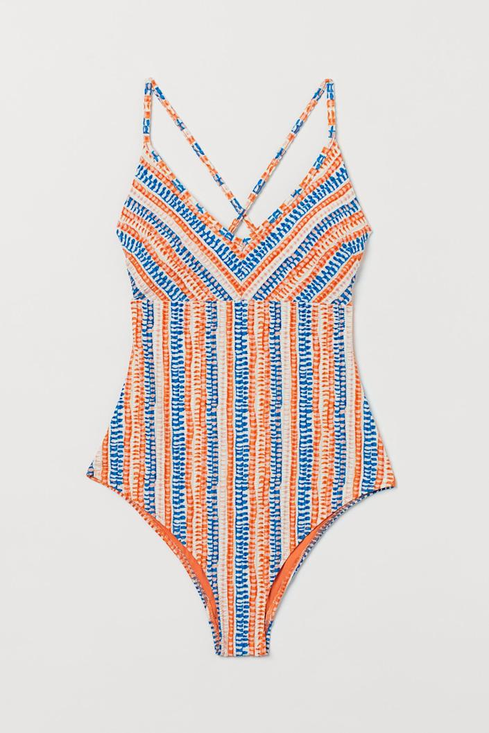 <p>This <span>Padded-cup Swimsuit</span> ($35) will make a bright and playful addition to your collection.</p>