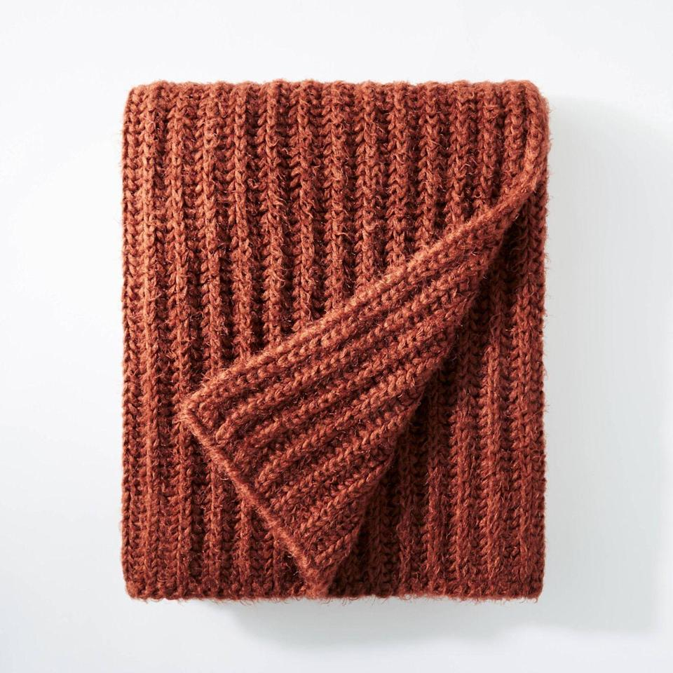 """<p><strong>Threshold x Studio McGee</strong></p><p>target.com</p><p><strong>$35.00</strong></p><p><a href=""""https://www.target.com/p/50-x60-eyelash-chunky-knit-throw-blanket-threshold-designed-with-studio-mcgee/-/A-81306115"""" rel=""""nofollow noopener"""" target=""""_blank"""" data-ylk=""""slk:BUY NOW"""" class=""""link rapid-noclick-resp"""">BUY NOW</a></p><p>You can never have too many comfy throw blankets, especially during fall. This one is made from a mesh textile construction featuring a chunky knit pattern. </p>"""