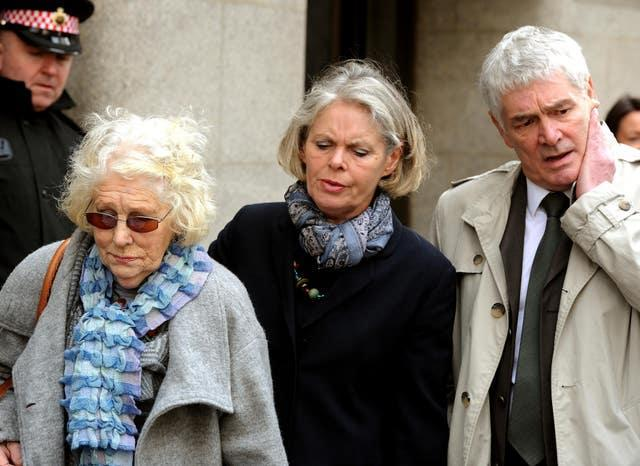 The family of Daniel Morgan outside the Old Bailey in 2011