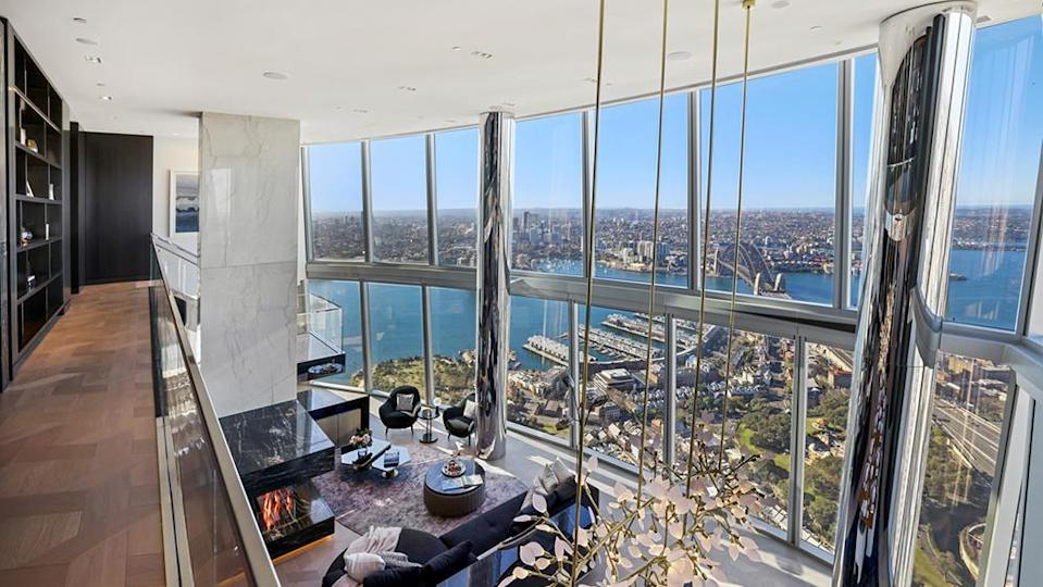 The views take center stage in the duplex apartment. - Credit: Photo: Tate Martin
