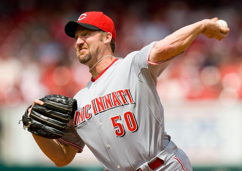 Former pitcher Kent Mercker was 32 years old when blood infiltrated his brain during a start for the Angels. (Getty Images)