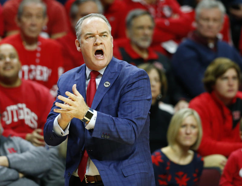 Head coach Steve Pikiell has engineered a turnaround at Rutgers and the RAC. (Noah K. Murray-USA TODAY Sports)