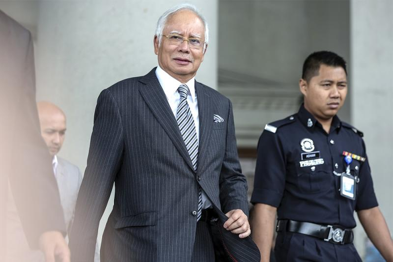 Former prime minister Datuk Seri Najib Razak leaves the Kuala Lumpur High Court August 10, 2018. — Picture by Azneal Ishak