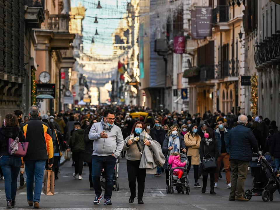 <p>Italy, along with other European countries, is sequencing a tiny proportion of its Covid cases</p> (AFP/Getty)