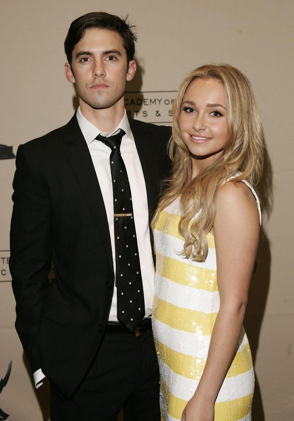 <p>Panettiere starred as the niece of Ventimiglia's character Peter Petrelli in <em>Heroes</em>, but that didn't keep the co-stars from pursuing a romance off-screen. They dated when the actress was just 18 and the age gap—Ventimiglia was 12 years her senior at the time—ultimately caused them to call it quits in 2009. The show aired its final episode a year later. </p>