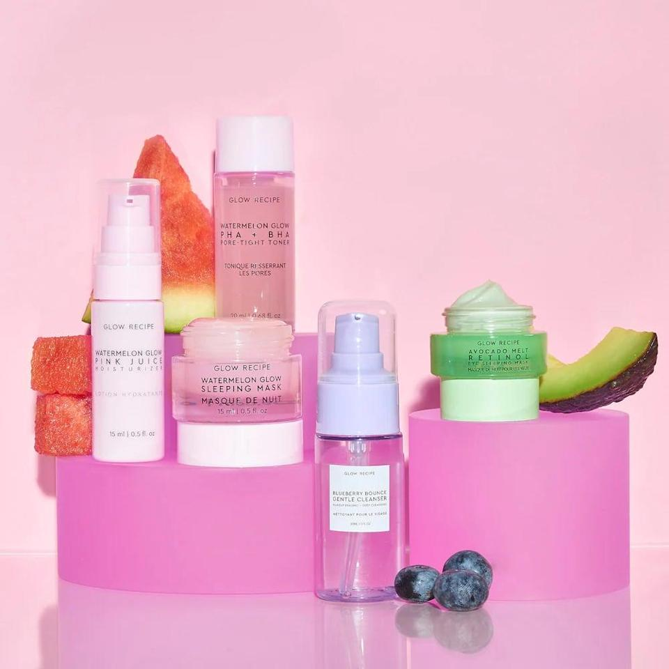 <p>If you know someone who's always on the go, gift them this <span>Glow Recipe Fruit Babies Bestsellers Kit</span> ($32). It's mini versions of the brand's five bestselling products, and they're all winners.</p>