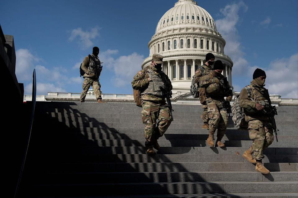 The US Capitol stood unprotected by National Guard troops for the first time in May (AFP via Getty Images)