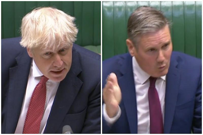 Boris Johnson was accused of 'serial incompetence' by Sir Keir Starmer. (Parliamentlive.tv)