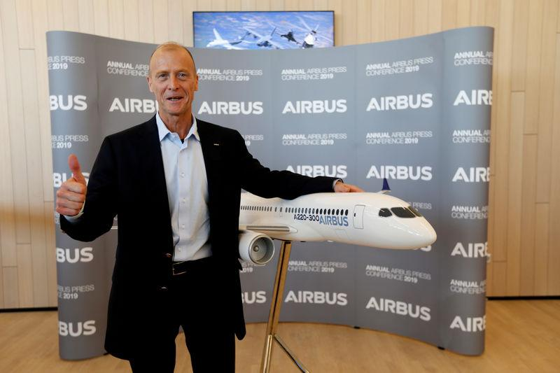 FILE PHOTO: Airbus CEO Tom Enders poses during the company's annual results news conference in Blagnac