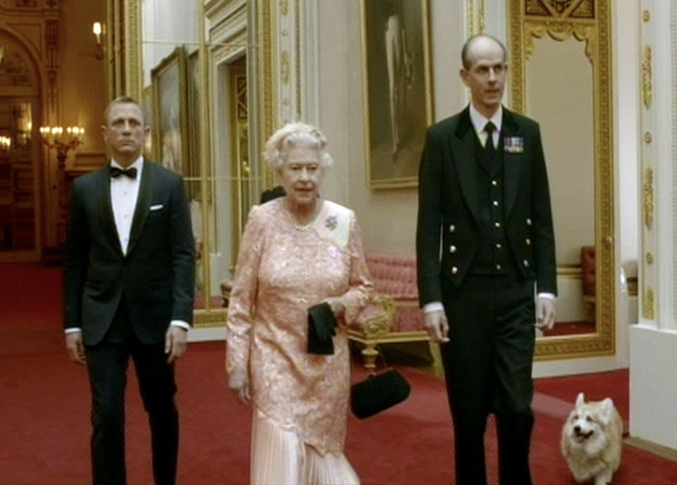 The Queen appearing in the 2012 sketch alongside 'James Bond' actor Daniel Craig. [Photo: BBC One]