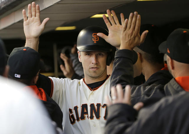 Buster Posey is in and he's bringing Madison Bumgarner with him. (AP Photo)