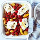 """<p>For this dish, you can use any white fish fillets you like.</p><p><strong>Recipe: <a href=""""https://www.goodhousekeeping.com/uk/food/recipes/a568024/cod-traybake/"""" rel=""""nofollow noopener"""" target=""""_blank"""" data-ylk=""""slk:Easy cod tray bake"""" class=""""link rapid-noclick-resp"""">Easy cod tray bake</a></strong></p>"""