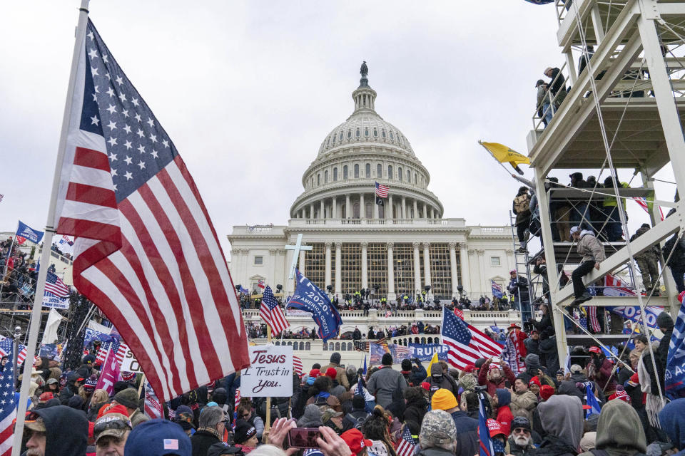 Photo by: Mihoko Owada/STAR MAX/IPx 2021 1/26/21 At least 150 people have been charged by the Justice Department in the riot that occurred at the Capitol Building in Washington, D.C. on January 6, 2021. STAR MAX File Photo: 1/6/21 The United States Capitol Building in Washington, D.C. was breached by thousands of protesters during a