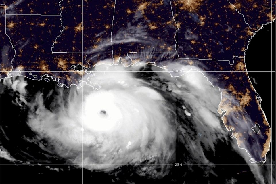 A satellite image taken on Sunday shows Hurricane Ida in the Gulf of Mexico and approaching the coast of Louisiana (via REUTERS)