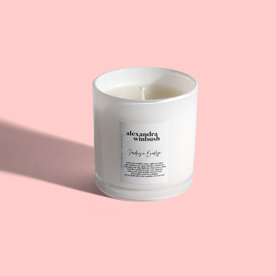 """<p><strong>Alexandra Winbush</strong></p><p>ampbeautyla.com</p><p><strong>$25.00</strong></p><p><a href=""""https://ampbeautyla.com/products/alexandra-winbush-sunday-in-brooklyn-candle"""" rel=""""nofollow noopener"""" target=""""_blank"""" data-ylk=""""slk:Shop Now"""" class=""""link rapid-noclick-resp"""">Shop Now</a></p><p>""""2019 was the first time I caught a whiff of an Alexandra Winbush candle. The brand did a collab with Summer Walker: a lemon pound cake scent inspired by Walker's breakout single, """"Girls Need Love."""" It hit every cylinder. Elegantly fragrant without overpowering the senses. Handmade by a young Black woman in NYC. Paired with bespoke teas and curated playlists to encourage self care as a lifestyle (not just a hashtag). What I love most is that her three signature scents complement one another; I can light them all at once for what the kids call, a *vibe*."""" —<em>Angel Lenise, supervising video producer</em></p>"""
