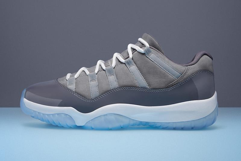 competitive price 73cc3 09aa4  Cool Grey  Air Jordan 11 Releasing in Low-Top Form