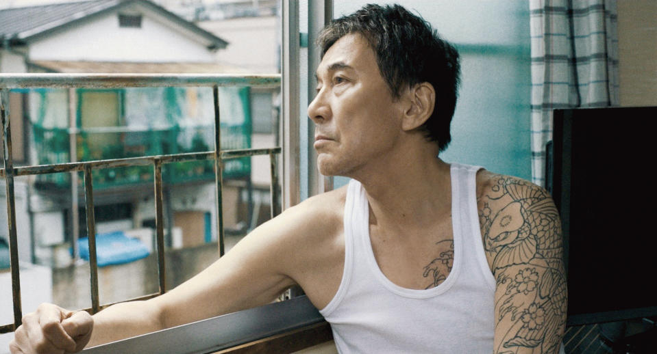 Koji Yakusho stars as Mikami, a hot-tempered and impulsive ex-convict in Under The Open Sky. (Photo: Golden Village Pictures)