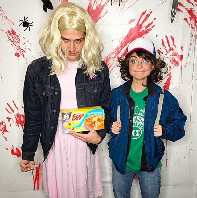 "<p>The <em>Modern Family</em> actress had the internet buzzing this weeked when she posted this pic with <em>Bacherlor in Paradise</em>'s Wells Adams, who seemed to be her date for Halloween this year. ""#strangerthings have happened,"" she wrote coyly, as the couple dressed up as characters from the Netflix show. (Photo: <a href=""https://www.instagram.com/p/Ba0tj2plcdW/?taken-by=sarahhyland"" rel=""nofollow noopener"" target=""_blank"" data-ylk=""slk:Sarah Hyland via Instagram"" class=""link rapid-noclick-resp"">Sarah Hyland via Instagram</a>) </p>"