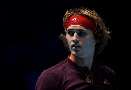 Tennis - ATP World Tour Finals - The O2 Arena, London, Britain - November 14, 2017   Germany's Alexander Zverev during his group stage match against Switzerland's Roger Federer     Action Images via Reuters/Tony O'Brien