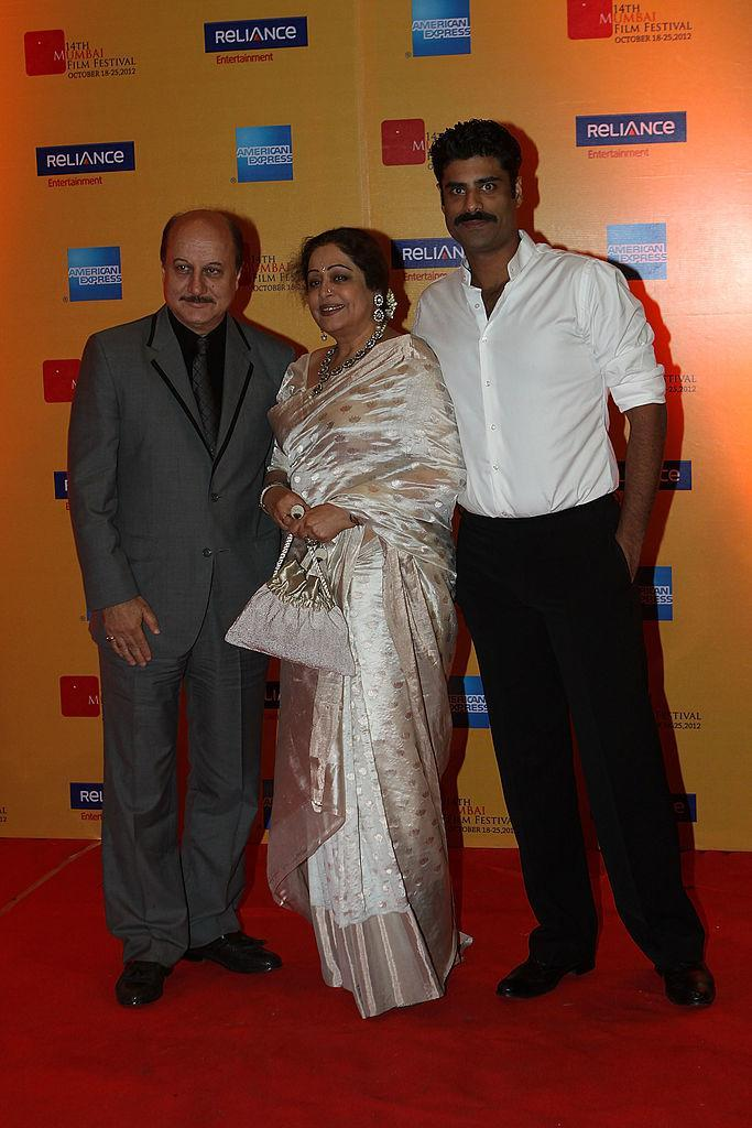 Kirron Kher and family