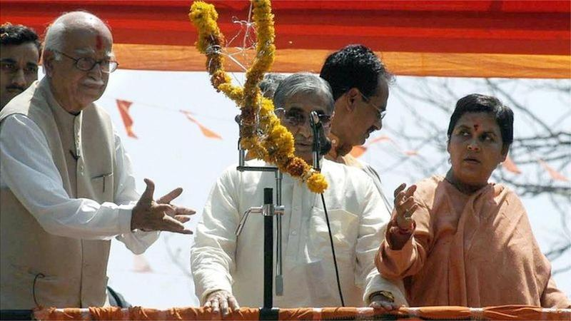 Lal Krishna Advani (left) and Uma Bharti (right) have fought the case in the courts for years