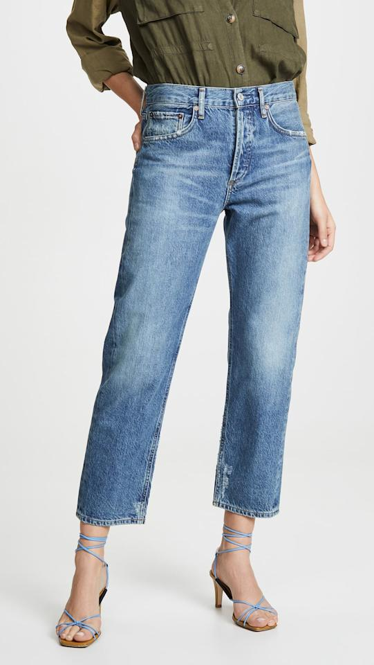 """<p>""""I love these <a href=""""https://www.popsugar.com/buy/AGOLDE-Parker-Easy-Straight-Jeans-488487?p_name=AGOLDE%20Parker%20Easy%20Straight%20Jeans&retailer=m.shopbop.com&pid=488487&price=188&evar1=fab%3Aus&evar9=46586848&evar98=https%3A%2F%2Fwww.popsugar.com%2Ffashion%2Fphoto-gallery%2F46586848%2Fimage%2F46586857%2FAGOLDE-Parker-Easy-Straight-Jeans&list1=shopping%2Cdenim%2Cjeans%2Ceditors%20pick%2Ccomfortable%20clothes&prop13=mobile&pdata=1"""" rel=""""nofollow"""" data-shoppable-link=""""1"""" target=""""_blank"""" class=""""ga-track"""" data-ga-category=""""Related"""" data-ga-label=""""https://m.shopbop.com/parker-easy-straight-jean-agolde/vp/v=1/1520695344.htm?folderID=22839&amp;fm=other-shopbysize&amp;os=false&amp;colorId=153A6"""" data-ga-action=""""In-Line Links"""">AGOLDE Parker Easy Straight Jeans</a> ($188). They are definitely an investment but the are premium denim and so nicely made. The classic cut means they will look great for a few seasons.  They are so comfortable!"""" - Dana Avidan Cohn, Executive Style Director</p>"""