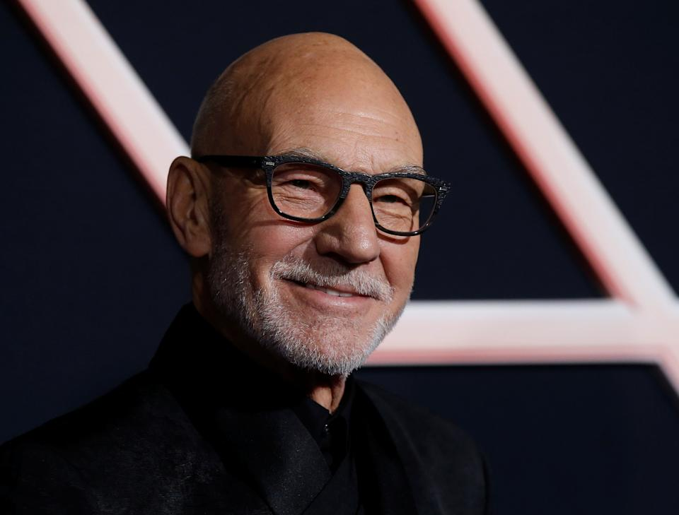"""Patrick Stewart arrives for the world premiere of the film """"Charlie's Angels"""" in Los Angeles, California, U.S. November 11, 2019. REUTERS/Mario Anzuoni"""