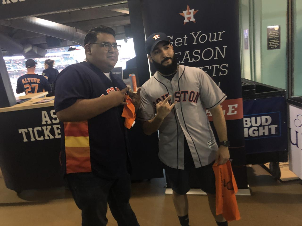Astros fan pelted with beer at Yankee Stadium gets free tickets, celebrity treatment at World Series