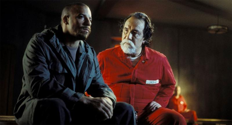 Vin Diesel and Geno Silva in a still from A Man Apart. (New Line)